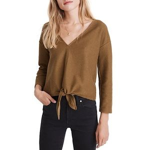 Texture & Thread (Madewell) Tie-Front Long Sleeve
